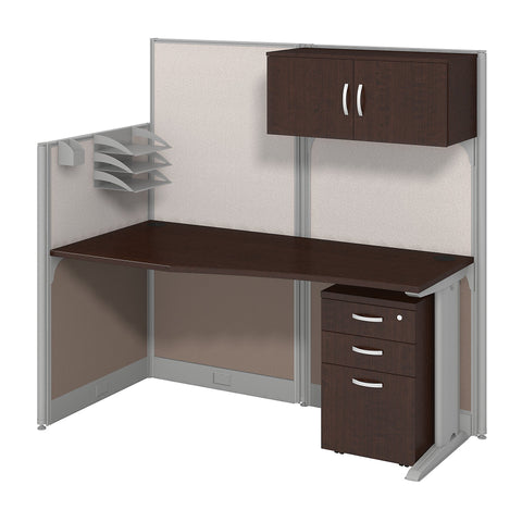 Office in an Hour 65W x 33D Cubicle Workstation with Storage