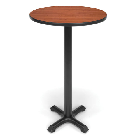 Ofminc Model XTC24RD Round Cafe Height Table with X Base 24 Inch