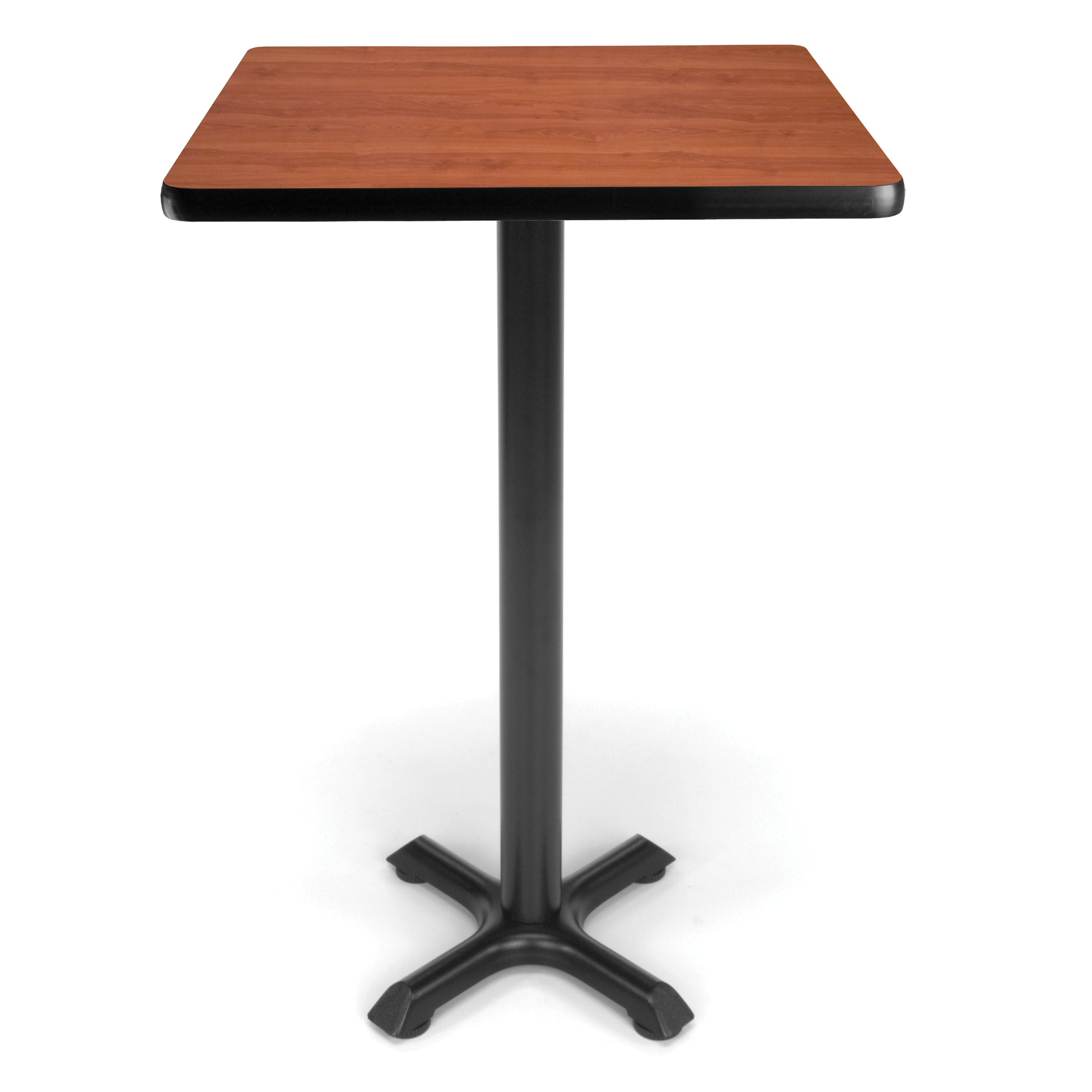 Ofminc Model XTC24SQ Square Cafe Height Table with X Base 24 Inch