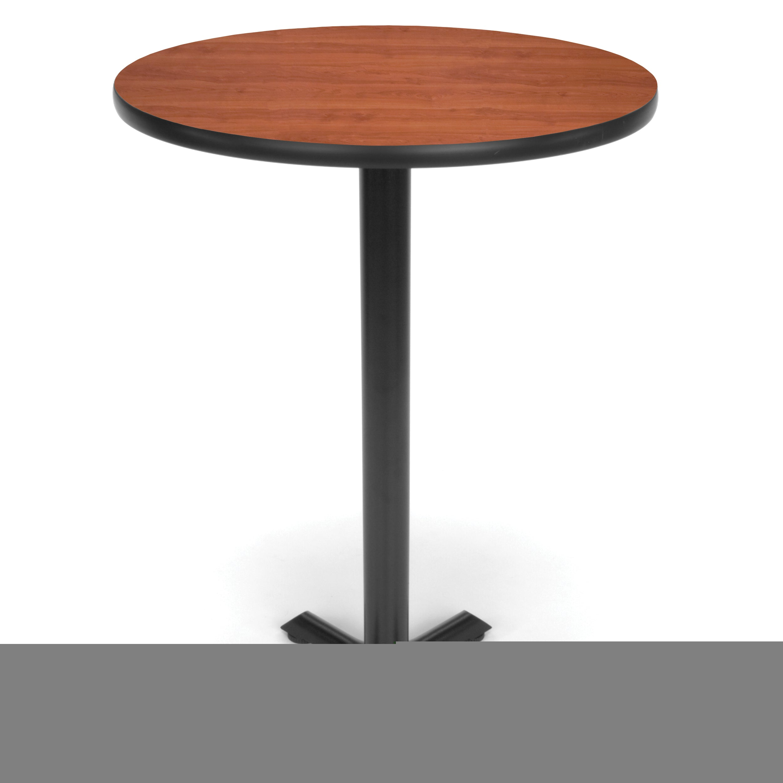 Ofminc Model XTC30RD Round Cafe Height Table with X Base 30 Inch