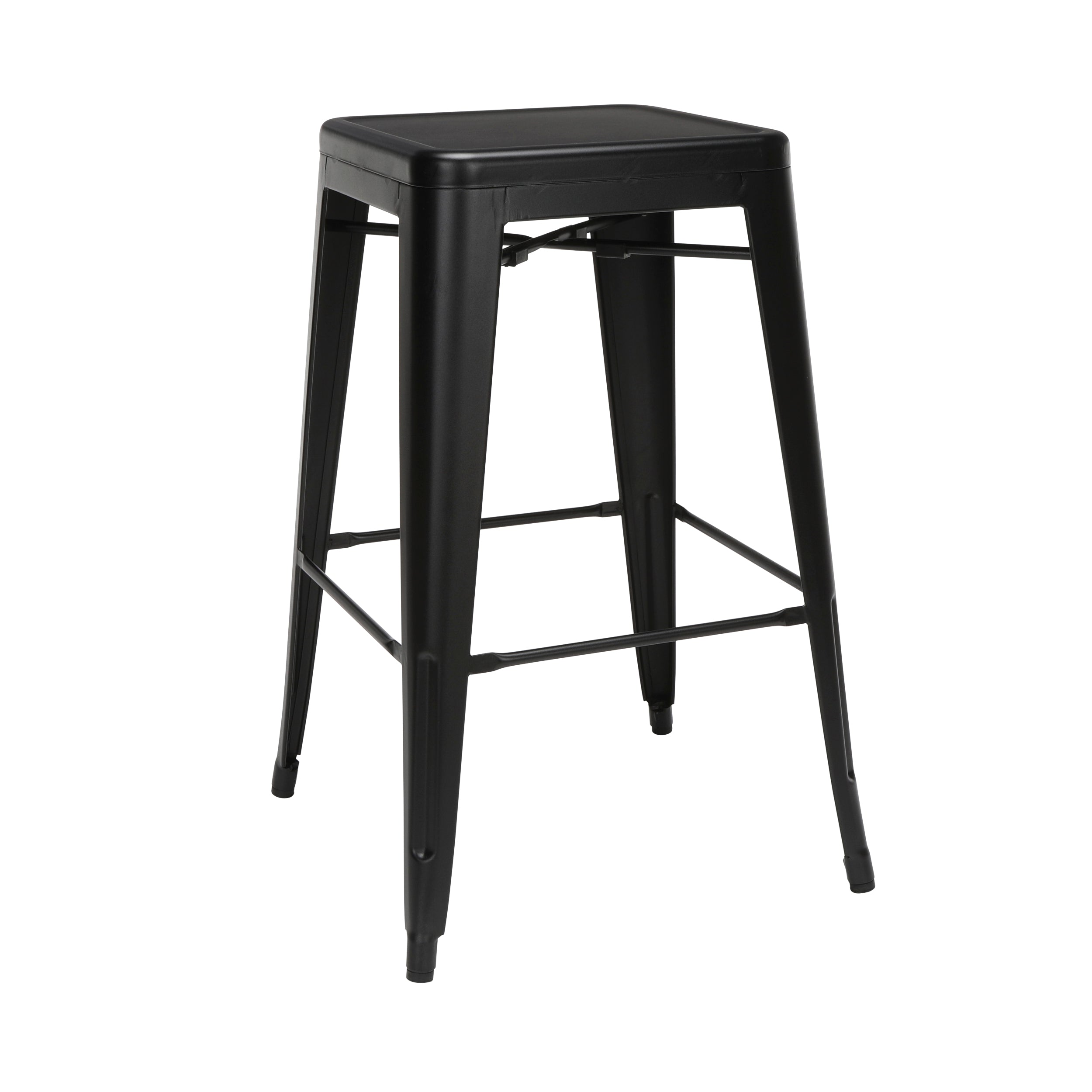 "30"" Backless Bar Height Metal Stools, Galvanized Steel Bar Stools"