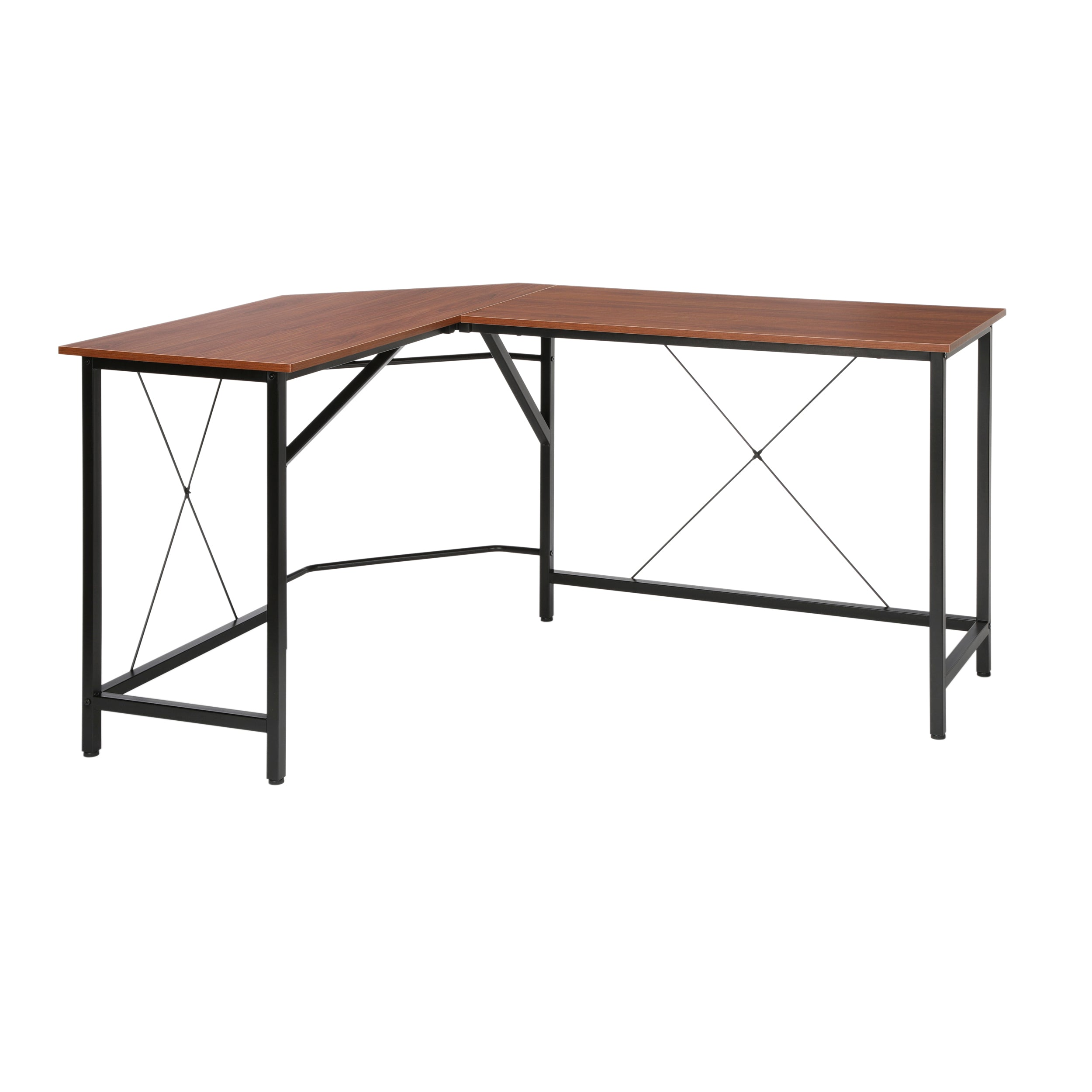 "OFM Essentials Collection 58"" Modern L-Shaped Desk Corner Desk"