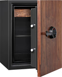 DBAUM Fingerprint Lock Luxury Fire Resistant Safe with Walnut Door