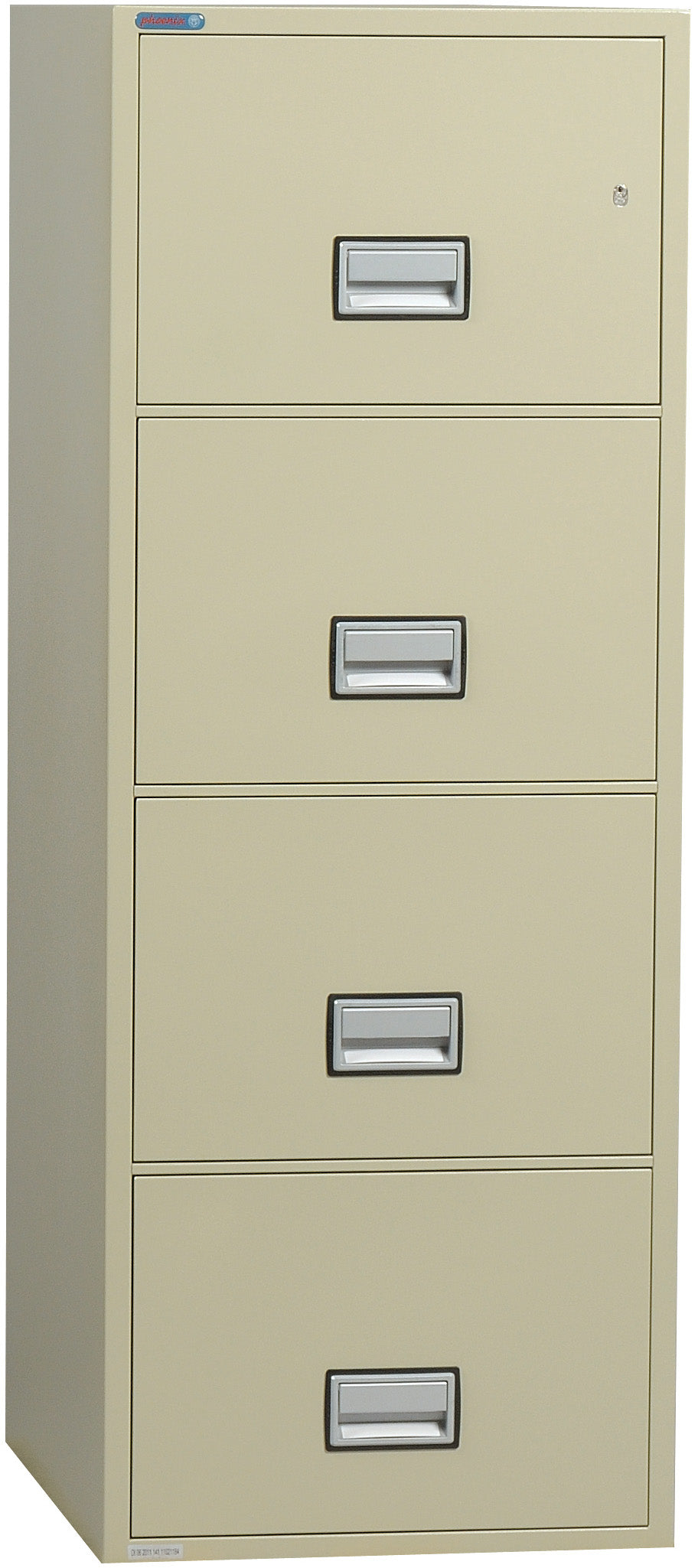 Vertical 25 inch 4-Drawer Legal Fire & Water Resistant File Cabinet