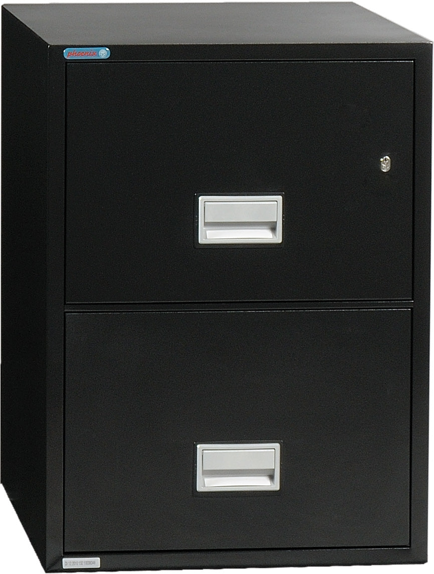 Vertical 25 inch 2-Drawer Letter Fire & Water Resistant File Cabinet