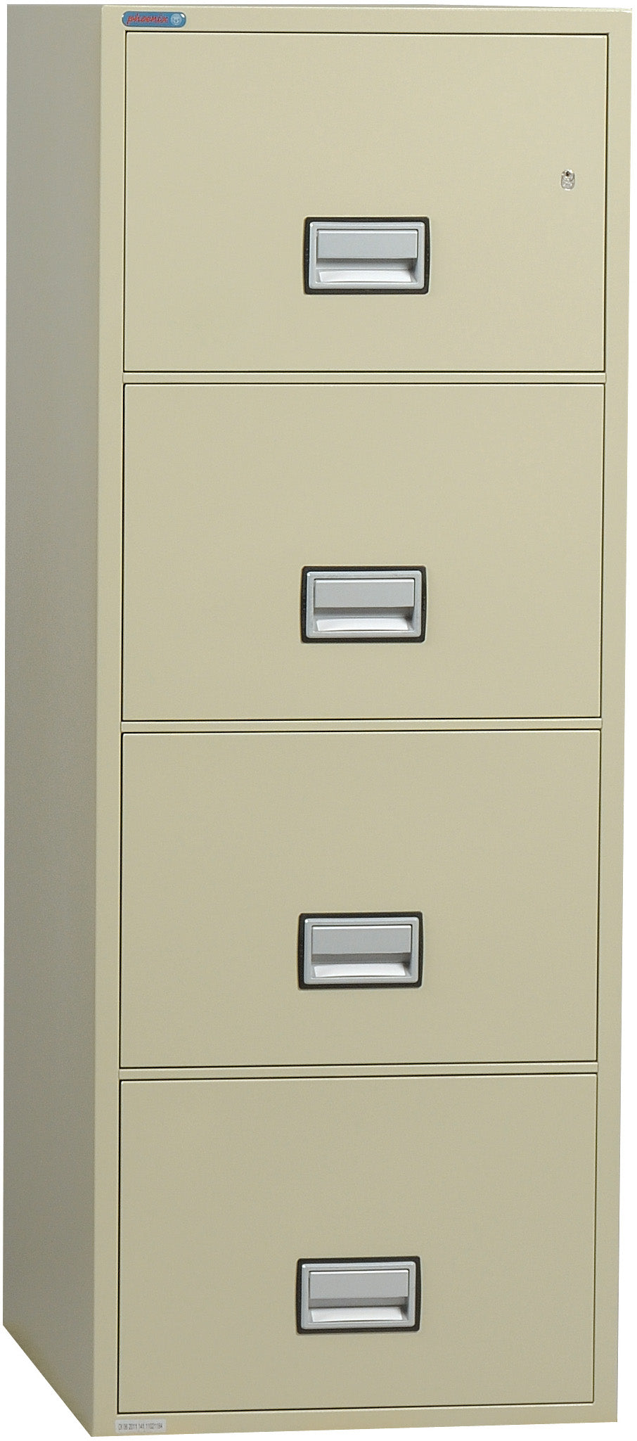Vertical 25 inch 4-Drawer Letter Fire & Water Resistant File Cabinet