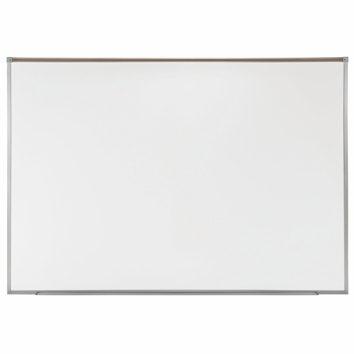 "Ghent Aluminum Frame Porcelain Magnetic Projection Whiteboard With 1"" Maprail"