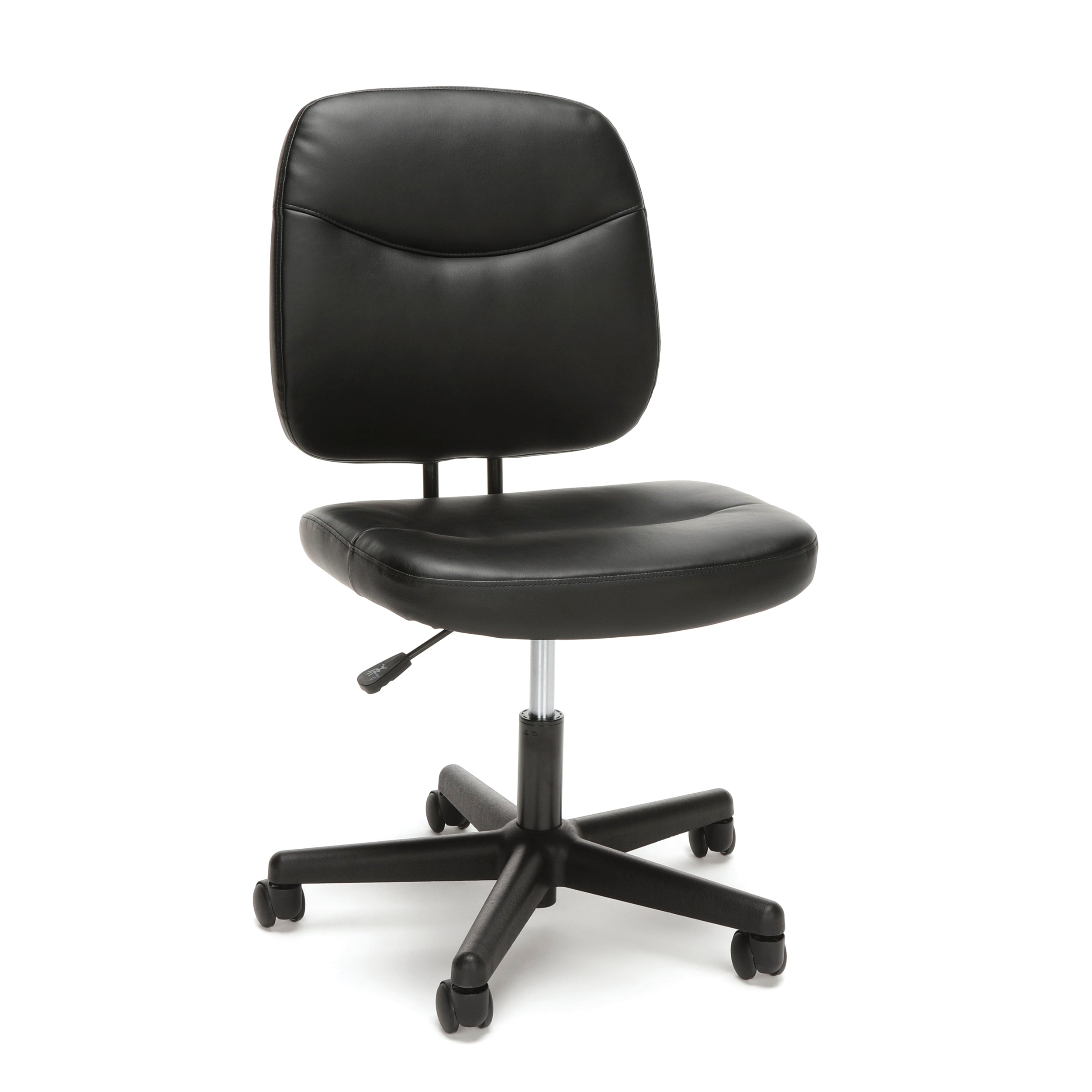 OFM Essentials Collection ESS-6005 Armless Leather Desk Chair Black