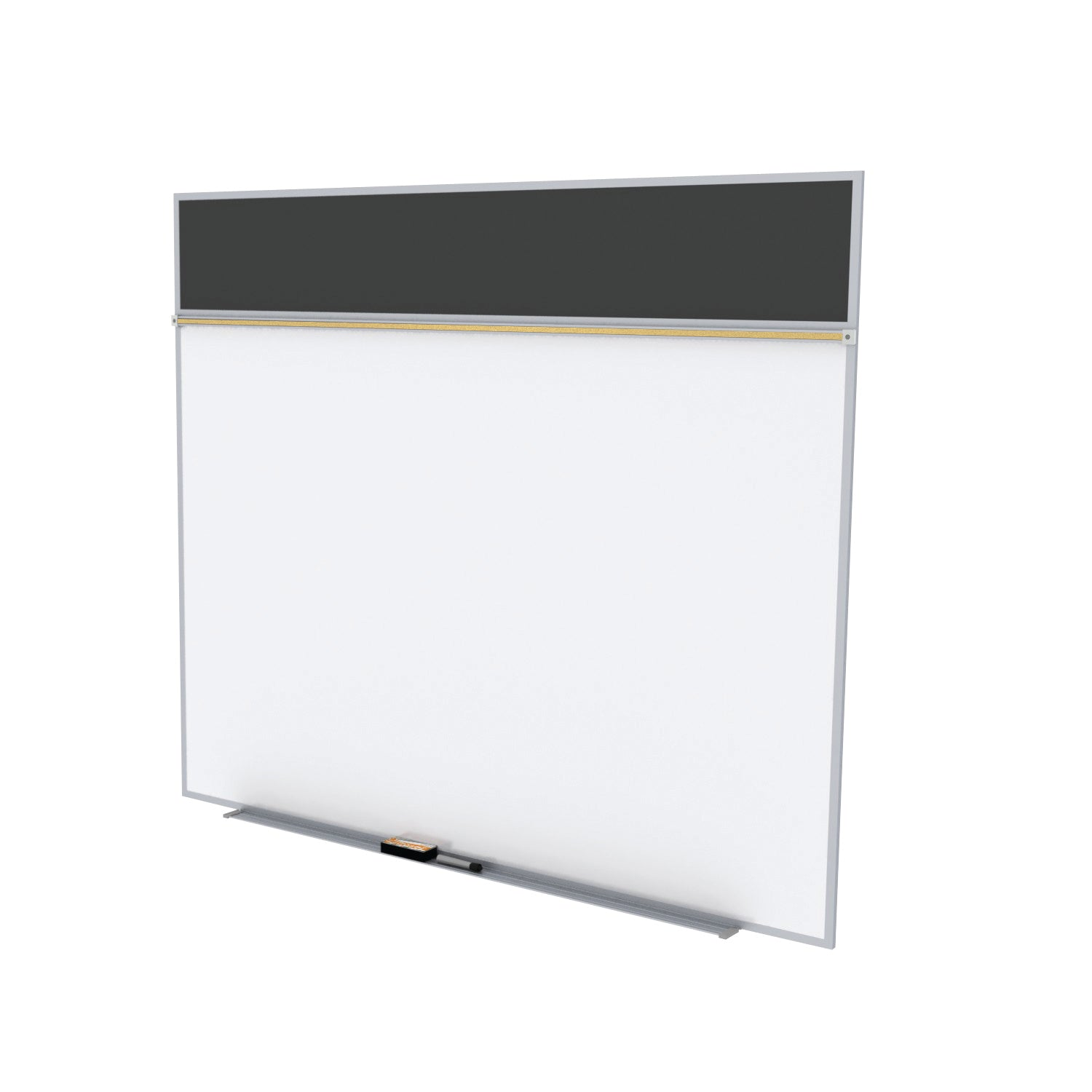 Style A Combination Unit-Porcelain Magnetic Whiteboard & BulletinBoard
