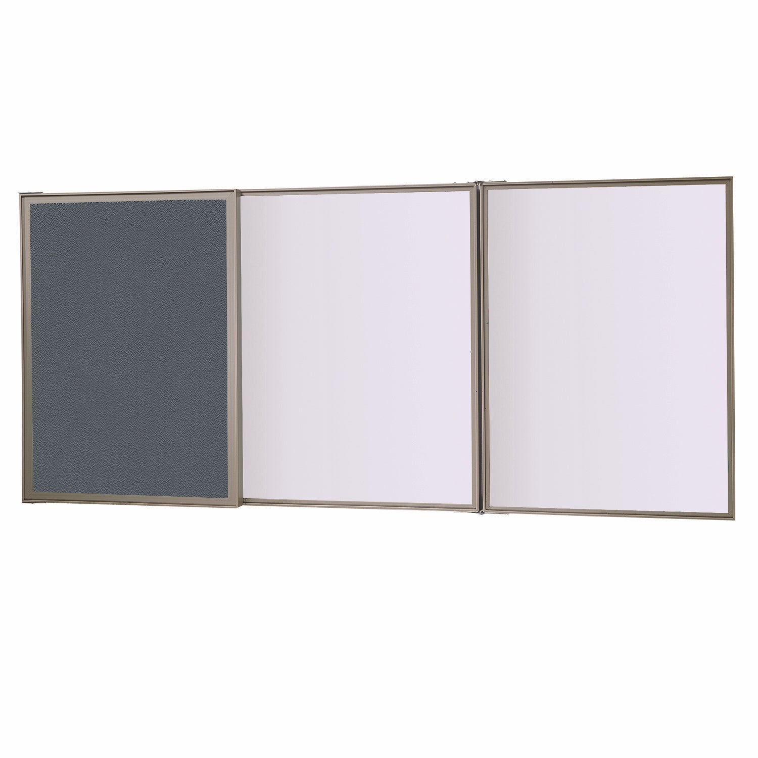 Ghent VisuALL PC Fabric Bulletin Board Outside with Non-Magnetic Whiteboard Inside