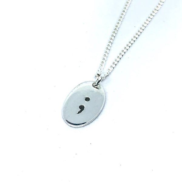Semi Colon Mental Health Awareness Pendant