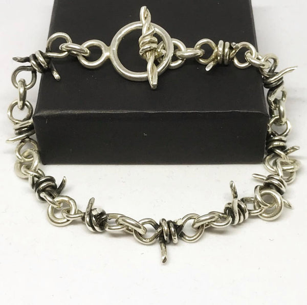 Barbed Wire Chain Link Bracelet