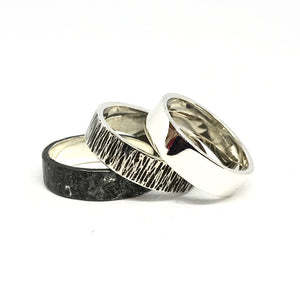 Dawn Dusk and Midnight 5mm Wide Ring