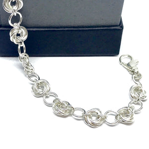 Hand Linked Rose Bracelet
