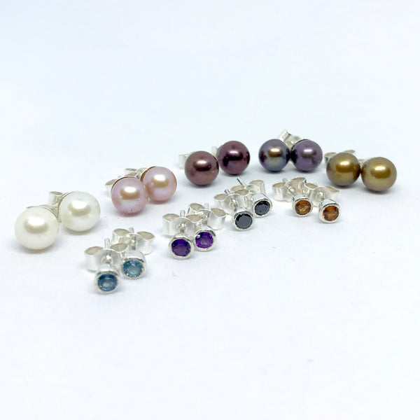Gemstone Ear Studs