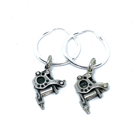 Tattoo Machine Earrings