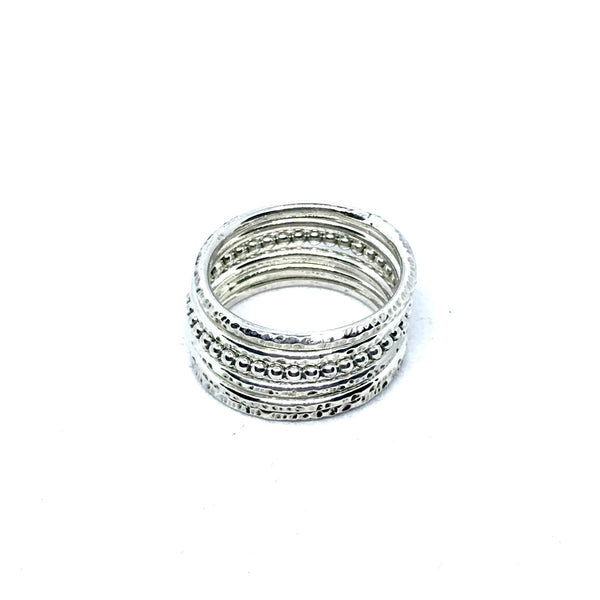 Elegant Set of three Delicate Stacking Rings