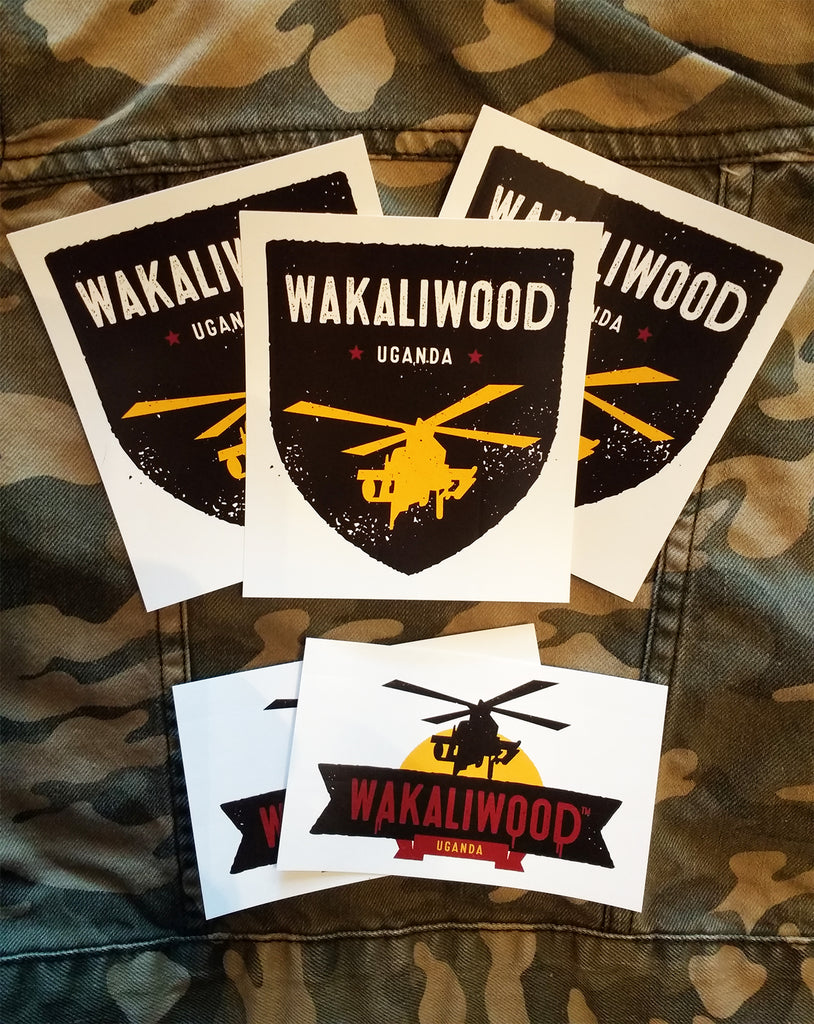 Set of 5 Official Wakaliwood Supa Stickers!