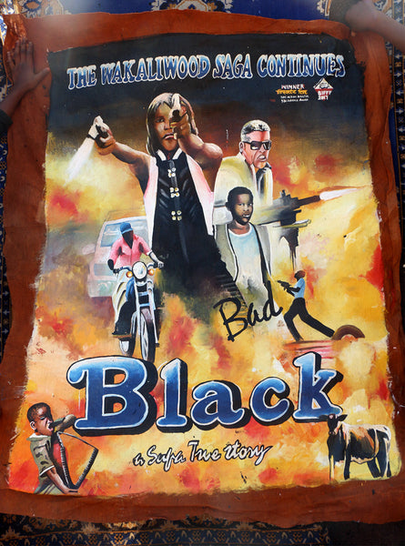 Hand Painted Poster! Bad Black