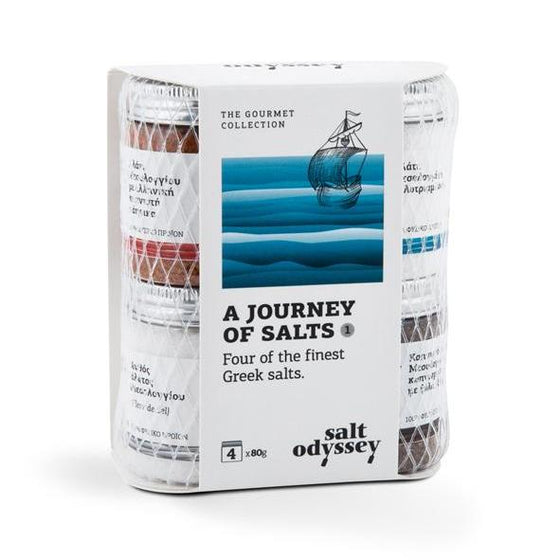 'Salt Odyssey' A Journey of Salts - Greek Collection -4x80g
