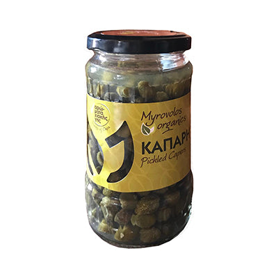 'Myrovolos Organics' Organic Pickled Capers - 125gr