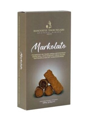'Biscotti' Markolato- Wafer Rolls with Hazelnut Cream Filling - 140g