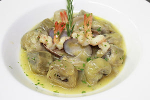 Artichoke Hearts with seafood