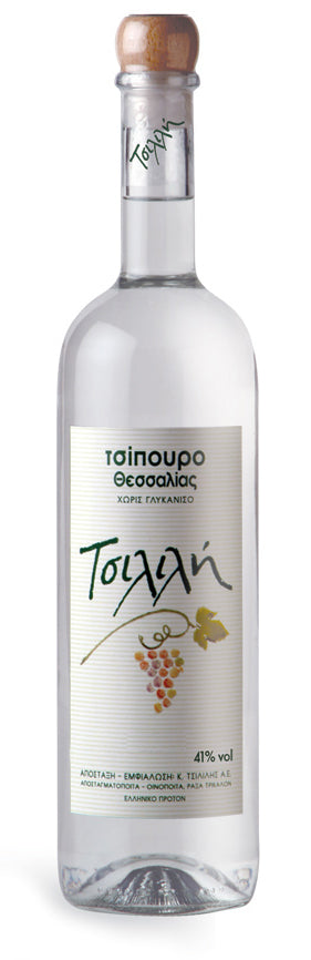 'Tsililis S.A.' Tsipouro without Anise - 200ml