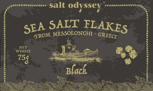 'Salt Odyssey' Sea Salt Flakes Black - 75g