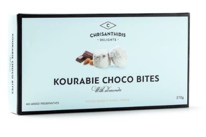 'Chrisanthidis Delights' - Kourabie Choco Bites with Almonds - 270g