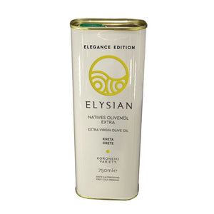 Cretan Extra Virgin Olive Oil in Tin Can Elegance Edition 'Elysian' - 750ml