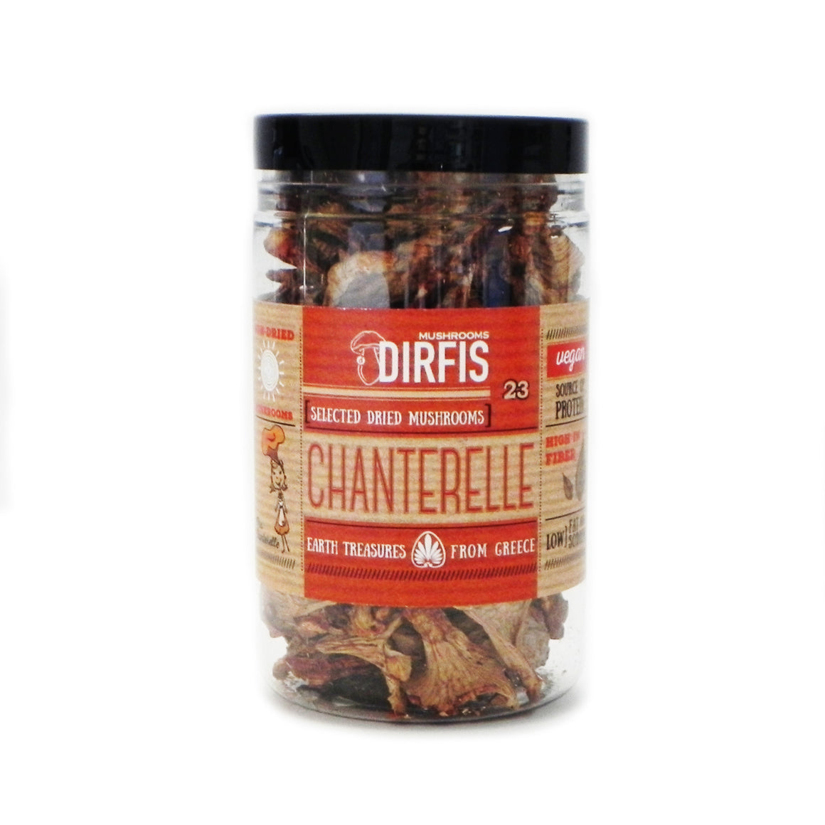 'Dirfis' Cantharelles dried Mushrooms - 30g