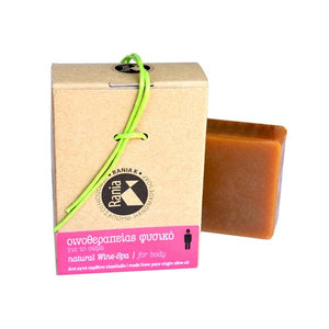 Handmade Natural Soap Wine-Spa for body made from pure virgin olive oil