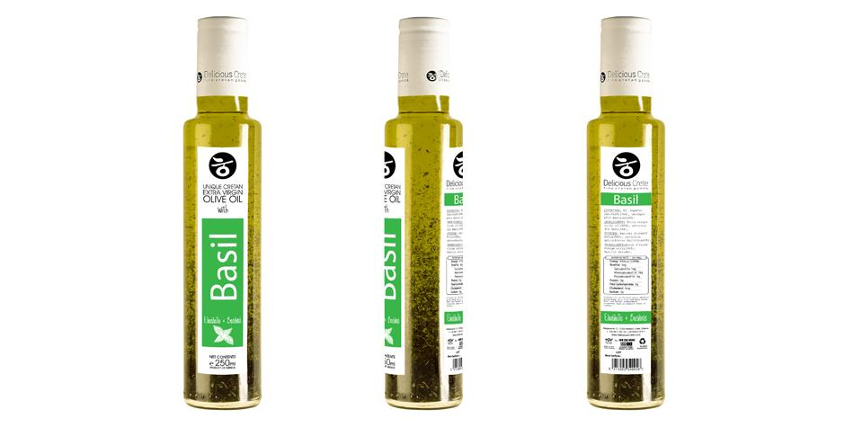 'Delicious Crete' Infused Olive Oil with Basil -250ml
