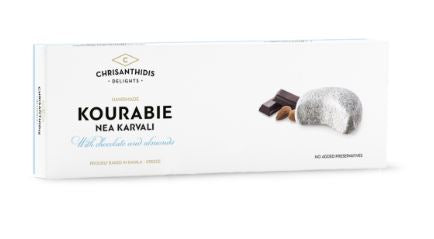 'Chrisanthidis Delights' - Kourabie with Chocolate and Almonds - 200g