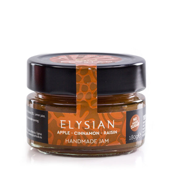 'Elysian' Apple, Cinnamon & Raisin Jam -180g