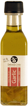 Garlic Infused  Extra Virgin Olive Oil 'Delicious Crete'  - 100ml