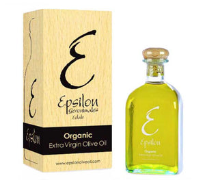 Organic Extra Virgin Olive Oil Glass Bottle Epsilon