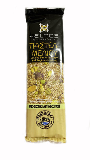 Pasteli - Honey Sesame Bar with Aegina Pistachios 'Helmos' - 75g