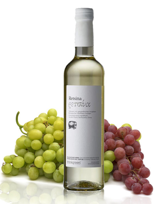 'ThinkGreen' Organic Greek Retsina - 500 ml