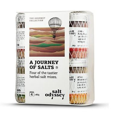 'Salt Odyssey' A Journey of Salts - Herbs Collection -4x80g