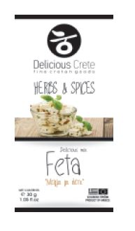 'Delicious Crete' Feta Cheese Mix - 30g