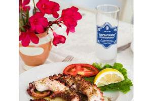 greek ouzo with octopus