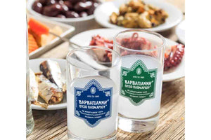 greek ouzo with seafood