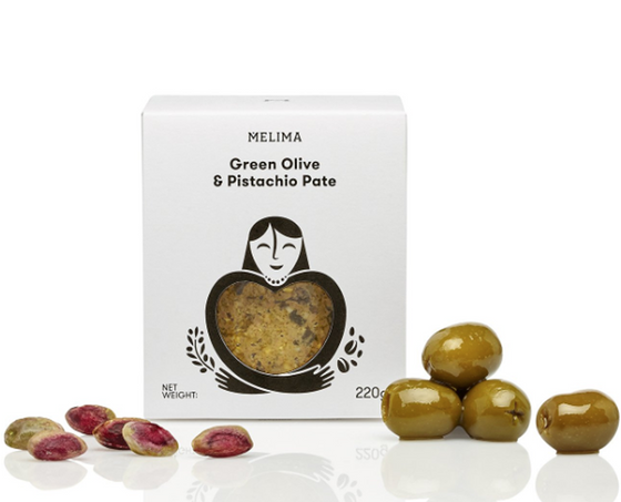 'Melima' Green Olive & Pistachio Pate - 220g