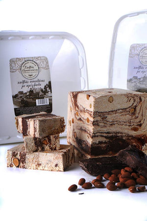 Halva with Chocolate and Almonds - 450g 'Drapetsonas' Traditional Handmade
