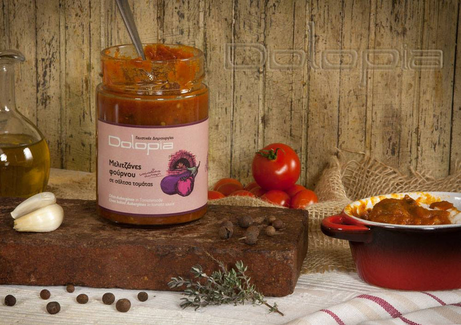 'Dolopia' Oven baked Aubergines in tomato sauce - 330g