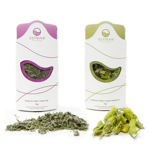 'Elysian' Organic Blends- Mountain Tea (15g) & Sage (30g)