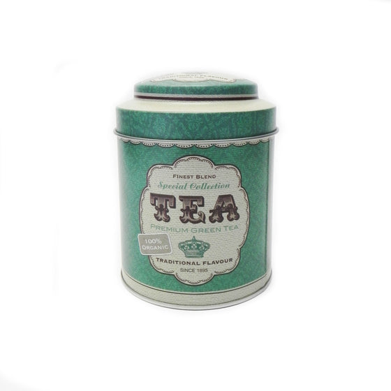 'Retro' Tea Round Metal  Storage Tin