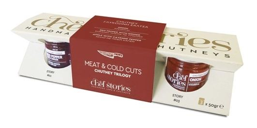 'Chef Stories' Meat & Cold Cuts Chutney Trilogy - 3x50g